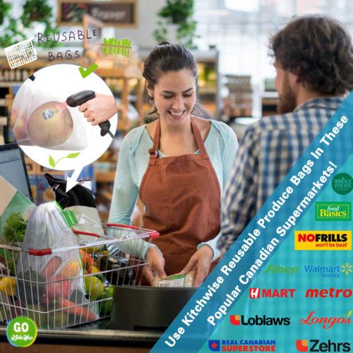 网布袋+超市logo